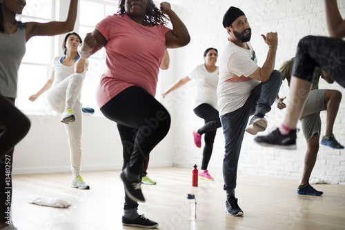 Diversity People Exercise Class Relax Concept Fototapeta