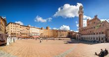 Sunny View Of Piazza Del Campo...
