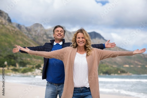 Fotografia  Mature couple enjoying on the beach