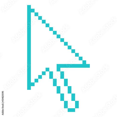 Photo sur Toile Pixel Computer Cursor Arrow Indicator Sign