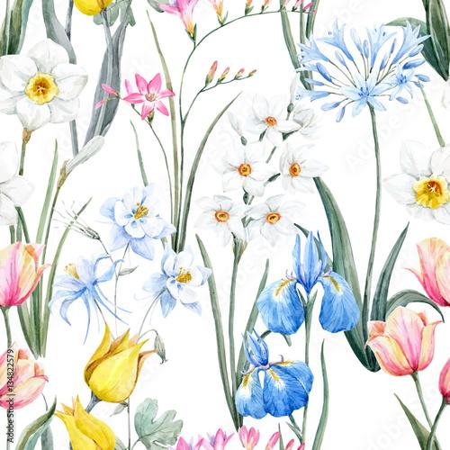 akwarela-wektor-kwiatowy-wzor