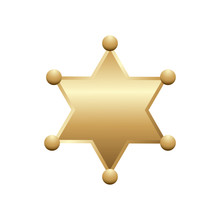Shiny Gold Sheriff Star, Isola...