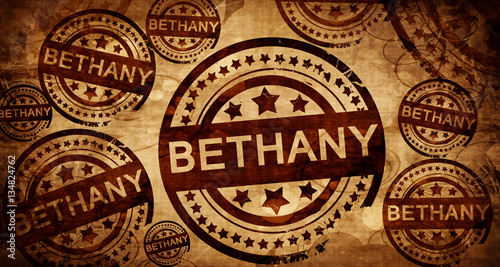 bethany, vintage stamp on paper background Wallpaper Mural