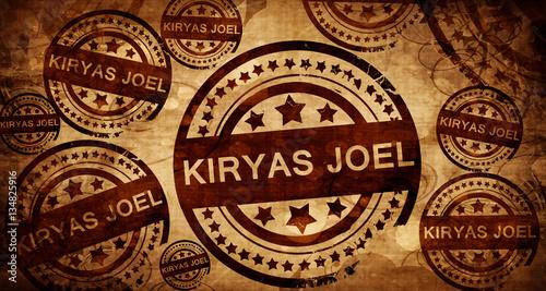 Photo  kiryas joel, vintage stamp on paper background