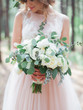 canvas print picture - wonderful brides bouquet