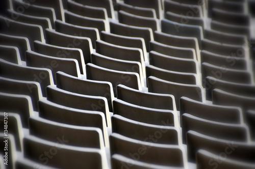 Leere Sitzplätze im Stadion von Barcelona Canvas Print