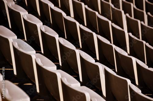 Lehre Stuhlreihen im Stadion von Barcelona Canvas Print