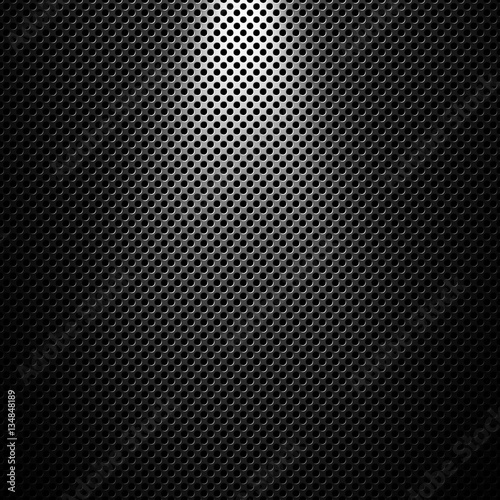 Valokuva  Abstract modern grey perforated metal plate texture