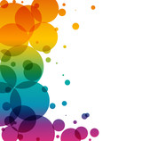 vector background with colored circles