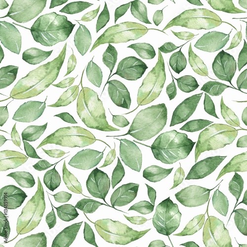wzor-z-piekna-zielona-akwarela