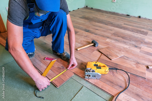Master Makes Laminated Floor Buy This Stock Photo And Explore