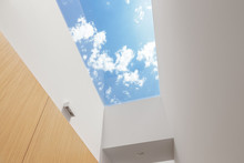 Hallway With A Big Skylight