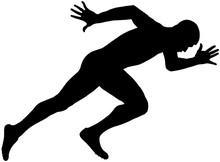 Muscular Sprinter Runner Explo...
