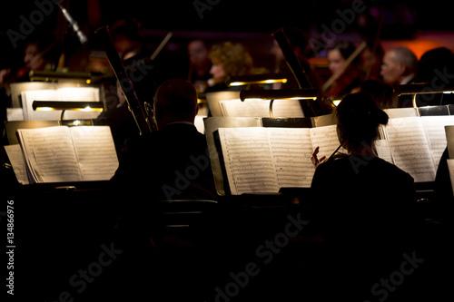 Fotografia Orchestra symphony dark