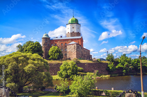 Cityscape of Vyborg in summer day Poster