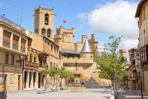 Medieval village of Olite in Navarra, Spain
