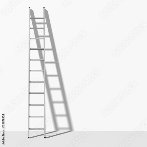 Foto op Plexiglas Trappen an einer Wand lehnende Leiter