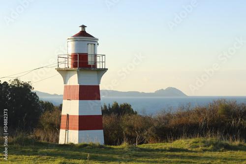 Montage in der Fensternische Leuchtturm beautiful lighthouse in Vigo