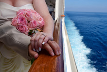 Couple Married At Sea On A Cru...