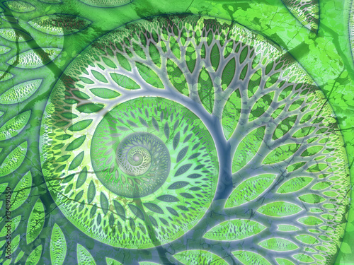 """Greenfinity"" tree fractal"