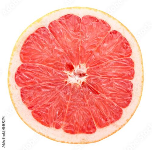 grapefruit slice isolated on the white background