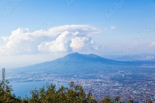 Foto op Canvas Napels Vésuve, Naples, Campanie, Italie