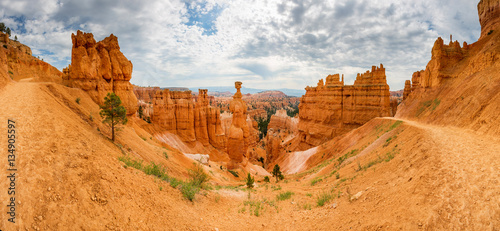 Printed kitchen splashbacks Canyon Bryce Canyon landscape from the top of mountain