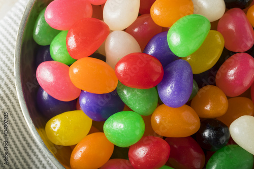 Foto op Aluminium Snoepjes Sweet Easter Egg Shaped Jelly Candies