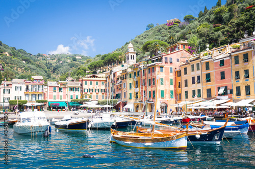 Poster Ligurie Portofino, Italy - Summer 2016 - view from the sea