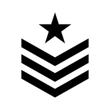 Military Symbol Icon Image, Vector Illustration Design