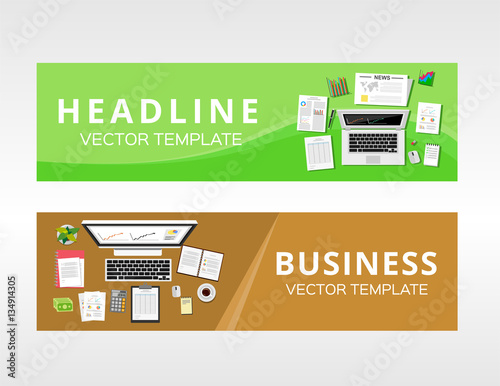 Business Solution Or Service Design Template For Web Banner Graphics Element Infographics