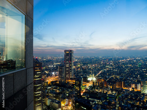 Fototapety, obrazy: Observation room night view in Japan