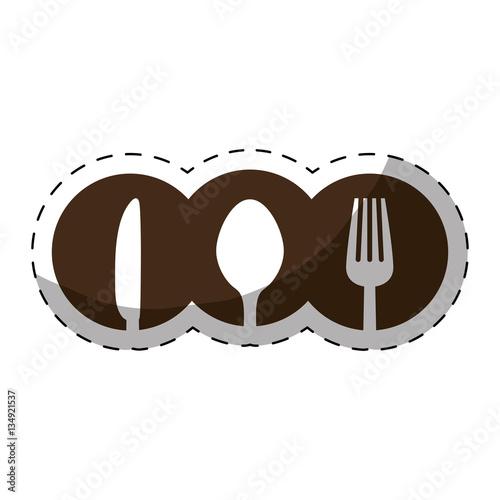 Foto op Plexiglas Retro sign fork knife spoon cutlery icon image vector illustration design