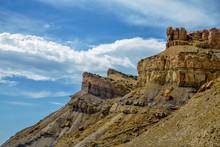 Sandstone Cliffs With Mudstone...