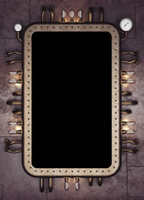 Steam-punk Make Up Mirror. Ret...