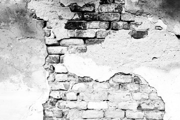 Fototapeta Kamienie Brick texture with scratches and cracks