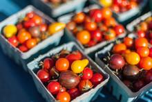 Cherry Tomatoes In Farmer's Ma...
