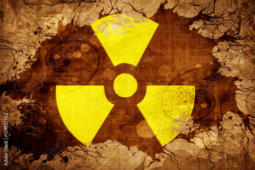 Obraz na płótnie Grunge vintage Radioactive warning