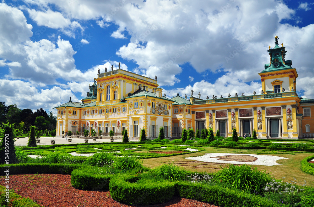 Fototapety, obrazy: Wilanow historical building in Warsaw castle