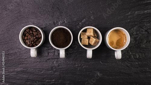 Deurstickers koffiebar tazzine di caffè,evoluzione