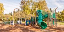 Playground Slide In Autumn