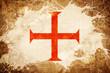 canvas print picture - Vintage Templar knight flag flag