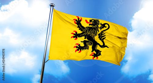 Fotografie, Obraz Nord pas de calais flag, 3D rendering