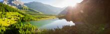 Lac De Derborence, Valais, Schweiz, Luftbild