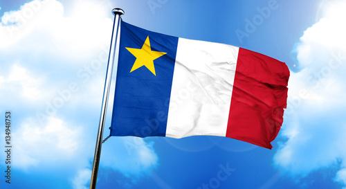 Photo Acadia flag, 3D rendering