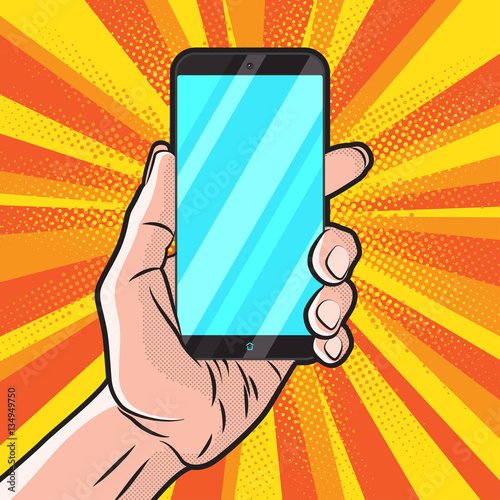 Poster Pop Art Smartphone in Hand