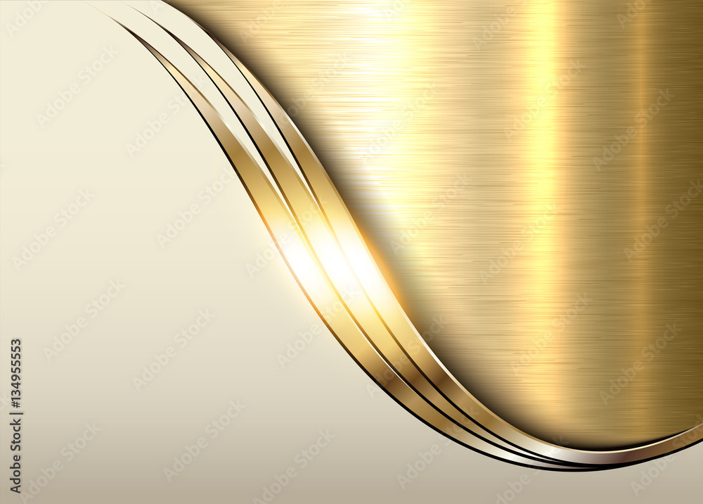 Fototapety, obrazy: Gold metal background, shiny metallic elegant business background