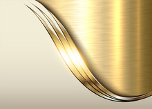 Gold Metal Background, Shiny M...