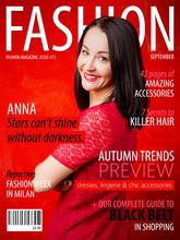 Sample Fashion Magazine Cover