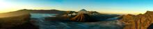 Sunrise Panorama At Volcano Mount Bromo